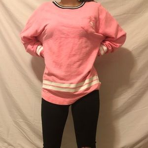 Pink jersey style top
